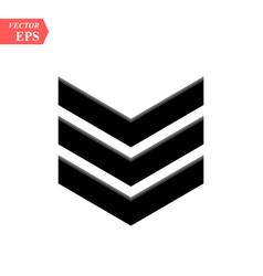 Chevron icon on white background flat vector