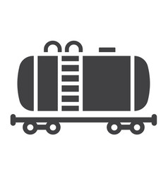 cistern oil train glyph icon logistic delivery vector image