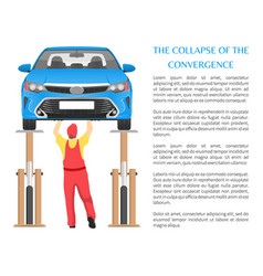 collapse of convergence poster vector image