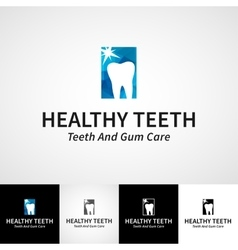 Creative dental logotype template Teethcare vector