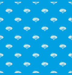 cute flower pattern seamless blue vector image