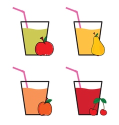 drink fruit colot vector image