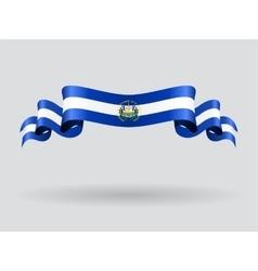 El Salvador wavy flag vector