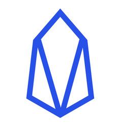 eosio eos token symbol defi project vector image