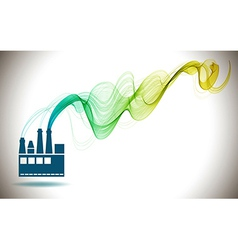 Factory icon and Abstract color wave vector image