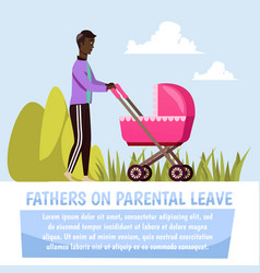Father with stroller orthogonal composition vector