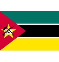 Flag of Mozambique in correct size colors vector image