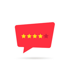 Four abstract rating star like positive feedback vector
