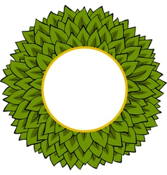frame from leaves vector image