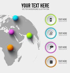 global web infographic template vector image
