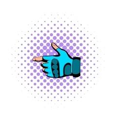 Gloves comics icon vector