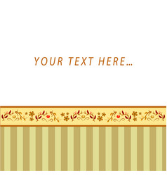 Greeting card with free place for text vector