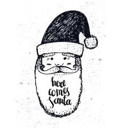 hand drawn christmas vector image