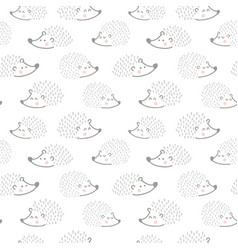 hedgehog family pattern vector image