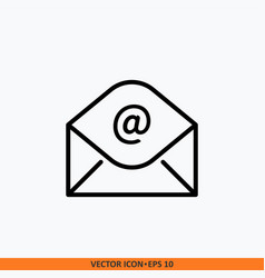 icon message open envelop and symbol email vector image