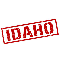 idaho red square stamp vector image