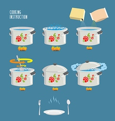Instruction cooking Home Cooking Recipe cooking vector