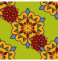 Japanese seamless pattern of the stylized flowers vector image