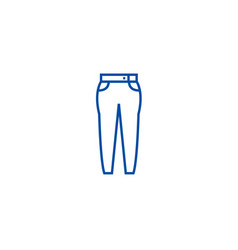 jeans line icon concept jeans flat symbol vector image