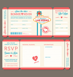 las vegas wedding invitation vector image