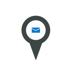 Location mail marker message pin place pointer vector