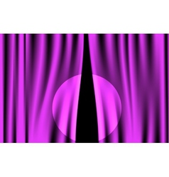 Luxury creases purple curtain with spotlight vector