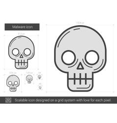 Malware line icon vector