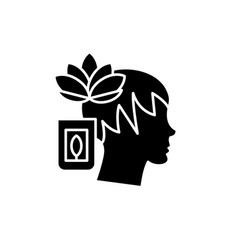 meditation black icon sign on isolated vector image