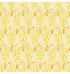 modern wheat seamless background vector image