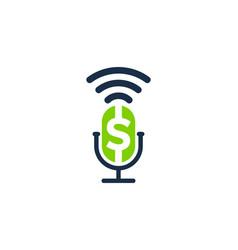 Money podcast logo icon design vector