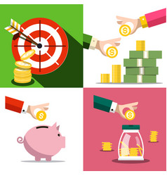 money saving concept business design with money vector image