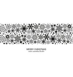 monochrome seamless snowflake border christmas vector image