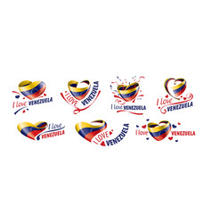 national flag venezuela in shape a vector image