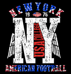 Newyork college tee fashion logo graphic design vector