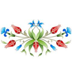 Ottoman art flowers twenty two vector