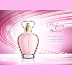 perfume product realistic advertisement poster vector image