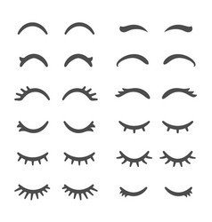Pretty woman eyelashes closed eyes for cute vector