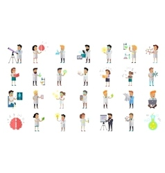 Scientist character collection vector