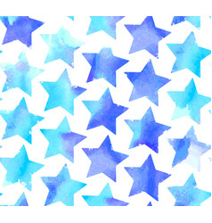 Seamless watercolor stars pattern vector