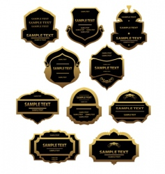 Set of golden labels and frames vector