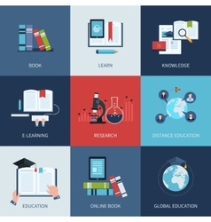 Set of icons for education include distance vector