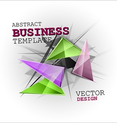 Sharp triangles on the abstract background busines vector image