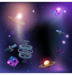 Space dark background vector