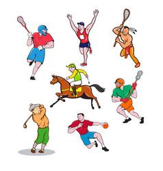 sports mascot cartoon set vector image