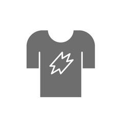 t-shirt clothing grey icon isolated on white vector image