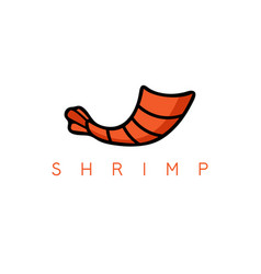 tail shrimp simple design template vector image