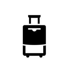Travel baggage icon vector