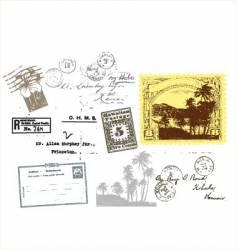 travel passport stamps vector image vector image