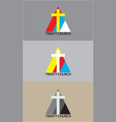 Triniti church logo vector