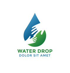 water drop graphic design template vector image